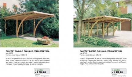 Promozione-arredo-giardino-Portico per auto in legno