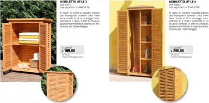 Promozione-arredo-giardino-Mobiletti da esterno in legno