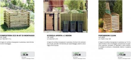 Promozione-arredo-giardino-Compostiera in legno Ecoisola copribidoni Portabidoni
