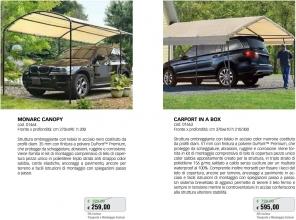 Promozione-arredo-giardino-Portico per auto in acciaio