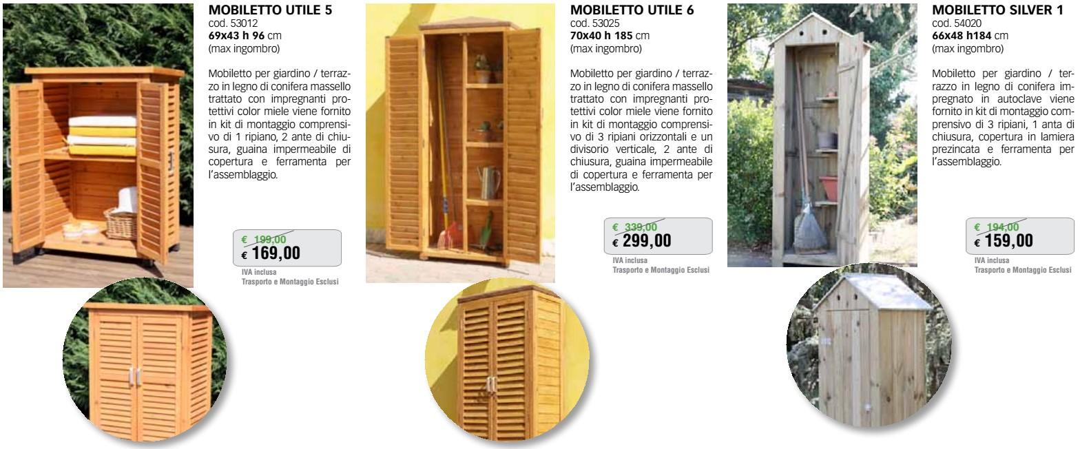 19 Mobiletto legno giardino  Mandelli Edilizia